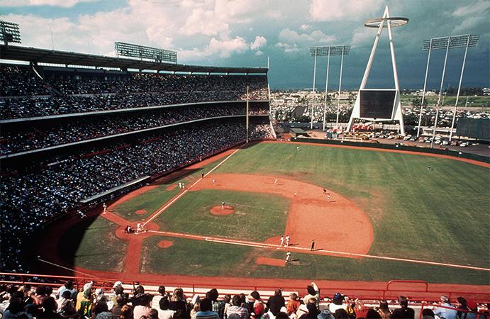 Angels Stadium in the 1960s