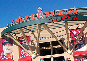 Main entrance to Angels Stadium