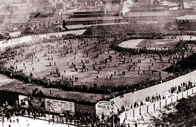 Huntington Grounds Base Ball Park, home of the first World Series game in 1903