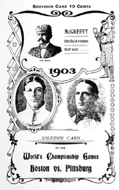 1903 World Series Program Cover