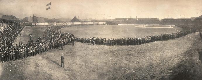 New York Highlanders at Boston Americans, October 8, 1904