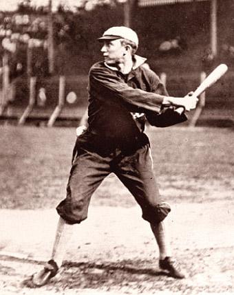 A Young Ty Cobb at bat