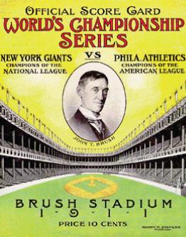 1911 World Series Program