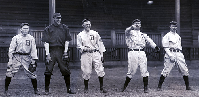 Johnny Evers and Boston Braves teammates