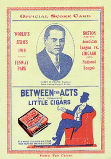1918 World Series Program