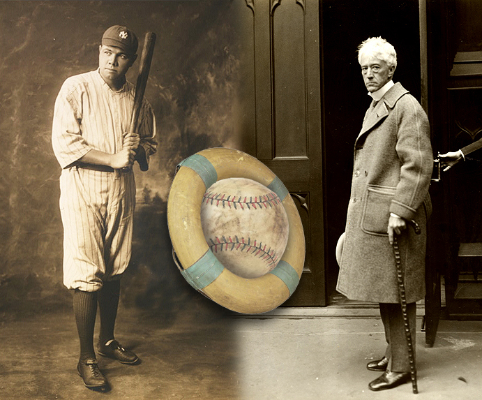 Babe Ruth and Kenesaw Mountain Landis