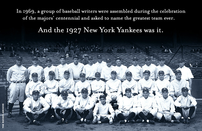 Team photo of 1927 New York Yankees