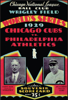 1929 World Series Program