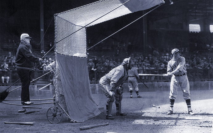 John McGraw at Giants batting practice