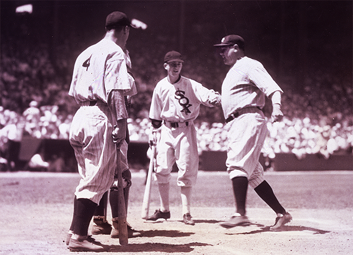 Babe Ruth homering in the first All-Star Game