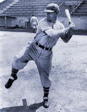 Mel Ott batting stance