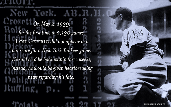 Lou Gehrig sits out