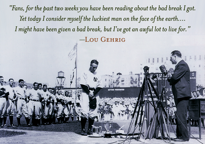 Lou Gehrig gives his farewell speech