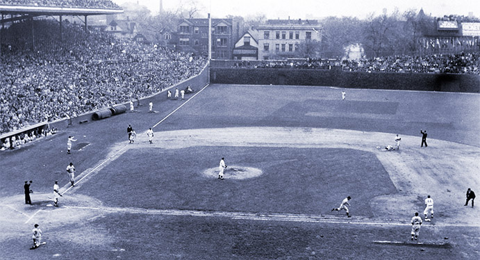 Hank Greenberg scores in Game Four of 1945 World Series