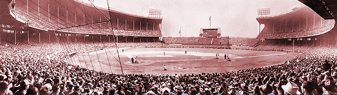 Sold out Cleveland Stadium in 1948