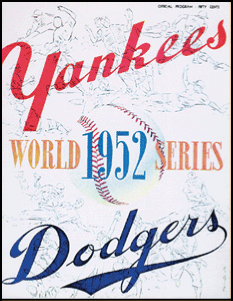 1952 World Series Program Cover