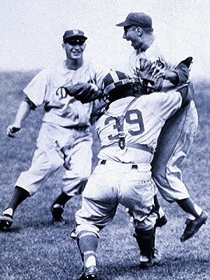 Dodgers celebrate 1955 World Series