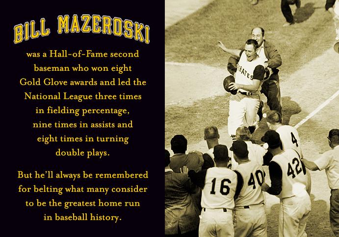 Bill Mazeroski scores on his 1960 World Series-winning home run