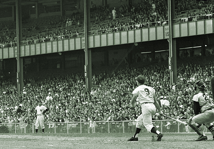 Roger Maris hitting his 61st home run in 1961