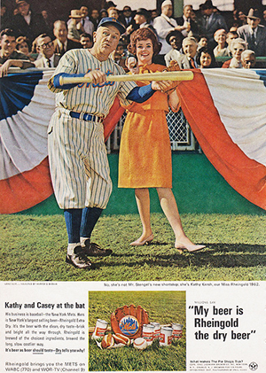Rheingold Ad featuring Mets manager Casey Stengel