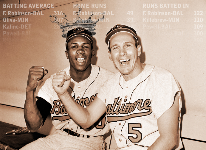 Frank Robinson and Brooks Robinson