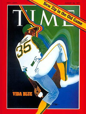 1971 Time Magazine cover with Vida Blue