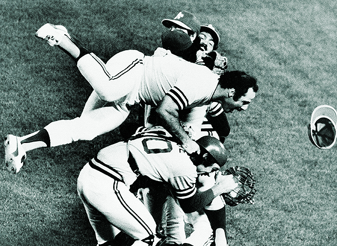 Oakland A's celebrate third straight World Series title