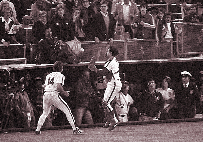Pete Rose's catch off carom from Bob Boone in 1980 World Series