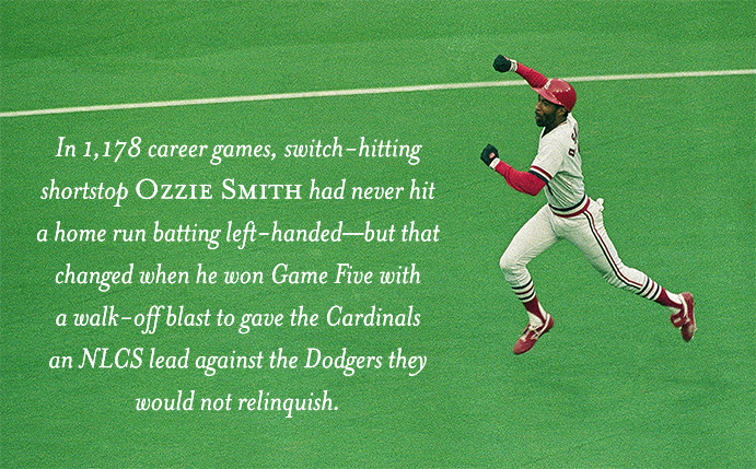 Ozzie Smith's left-handed home run in the 1985 NLCS