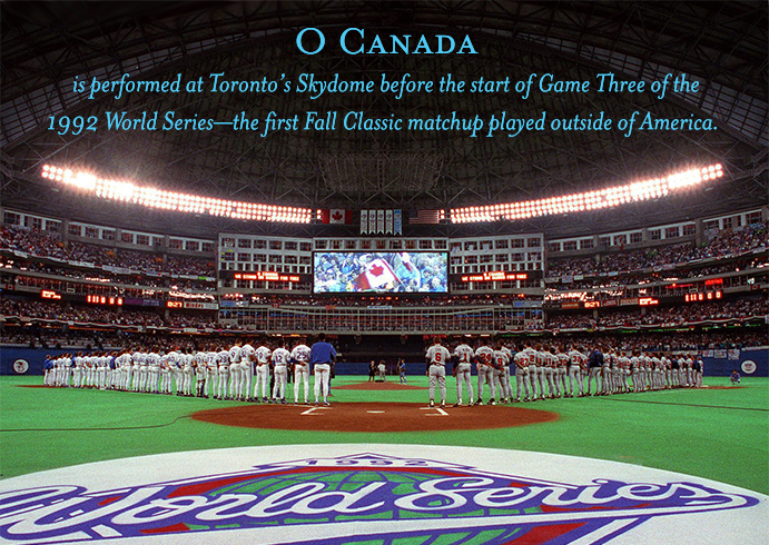 Skydome before first World Series game in Canada