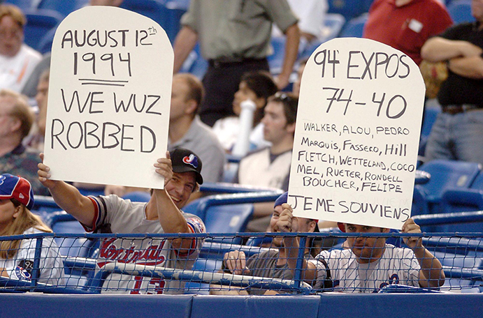 Protesting Montreal Expos fans