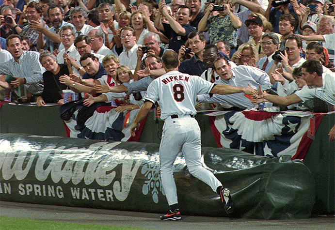 Cal Ripken Jr.'s Victory Lap in his 2,131st consecutive game played
