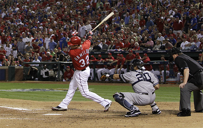 Josh Hamilton in the 2010 postseason