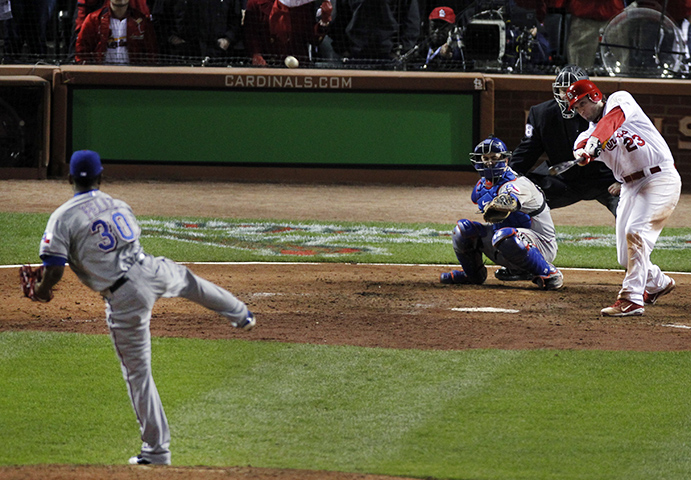 David Freese's game-tying triple in 2011 World Series Game Six