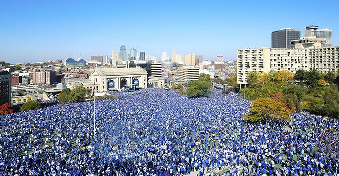 World Series celebration in Kansas City, 2015