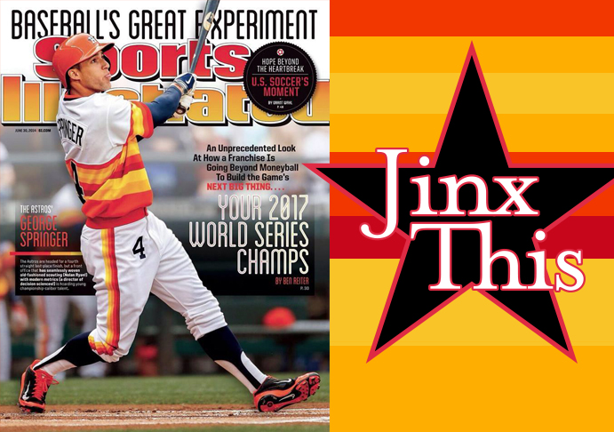 2014 Sports Illustrated Cover with George Springer