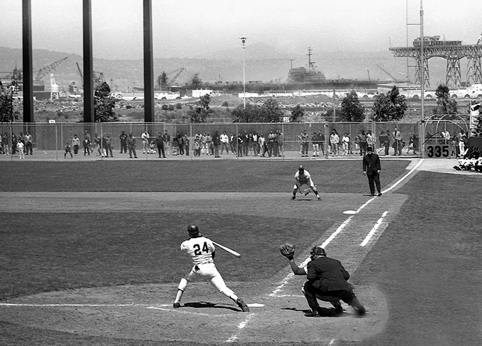Willie Mays at Candlestick Park, 1965
