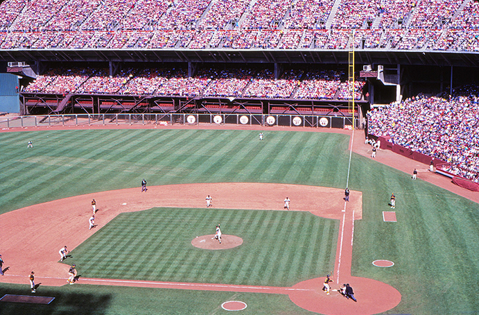 Candlestick Park 1980s, looking out toward right field