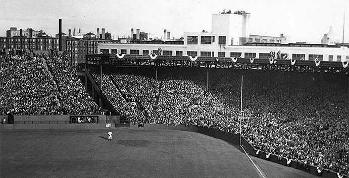 Fenway Park, right-field corner, 1946