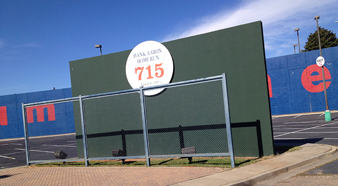 Hank Aaron 715th home run wall remaining today