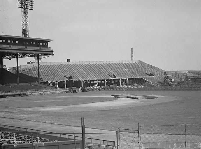 Demolition of Braves Field