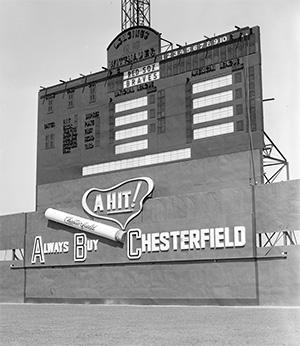 Braves Field scoreboard