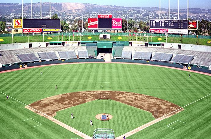 Oakland Coliseum before Mount Davis