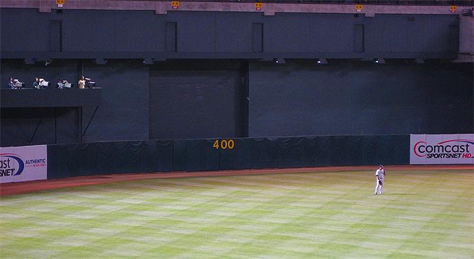 Oakland Coliseum Center Field Wall