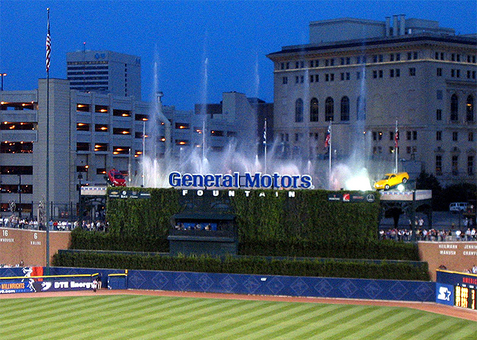 Fountains at Comerica Park