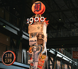 History Pole at Comerica Park