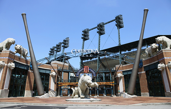 Comerica Park Main Entrance