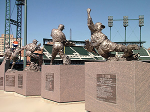 Statues at Comerica Par