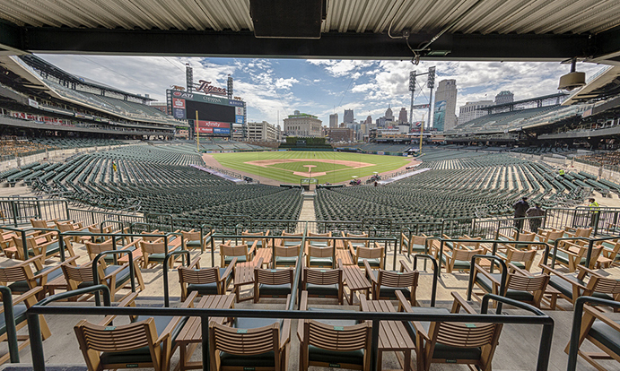 Tiger Den Seating at Comerica Park