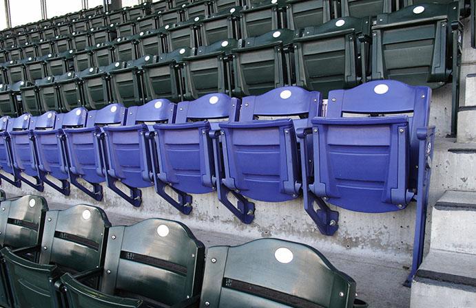 Coors Field Purple Row of Seats